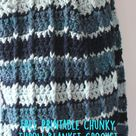 Free Printable Chunky Throw Blanket Crochet Pattern