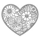 Mehndi flower pattern in form of heart with lotus for Henna drawing...