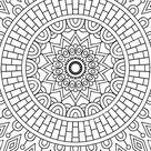 Mandala Background Vintage Decorative Elements Hand Stock Vector (Royalty Free) 463520531