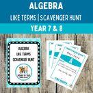 Combining Like Terms Algebra | Escape Room | Scavenger Hunt