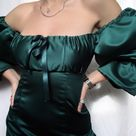 The Daphne Dress in Emerald