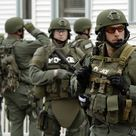SWAT team searches for Boston bombing suspect