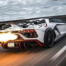 Luxurious sports car and compact SUV super luxurious car .