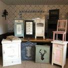 Mit Kreidefarbe Möbel (Schrank, Kommode, Nachttisch, Bett usw.) streichen