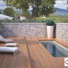 Swimming pool cover ideas   Decking Peruvean teak