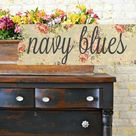 Sweet Pickins Milk Paint - Bees Wax Bundle - Navy Blues