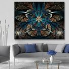 Abstract Art Canvas - 30''x 40'' Metal frame print
