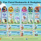Paw Patrol Bookmarks & Bookplates kids bookmarks printable | Etsy