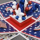 Fourth of July Box Card | Etsy