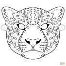Jaguar Mask coloring page | Free Printable Coloring Pages