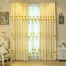 Heimtextilien | Wohnzimmer Deko - Vorhang mit Sonnenblumen Bestickt | Haus und Garten Dekoration Günstig Online Kaufen