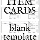 Item Cards (Blank Printable) - 1191 AD Publishing | Dungeon Masters Guild