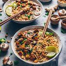 Thai Erdnuss Nudelsuppe   Ramen Vegan