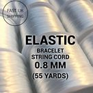 Elastic Bracelet String Cord 0.8 Elastic String Stretch Bead Cord for Jewellery Making | 55 yards - 50.3 meters |  Same Day Despatch