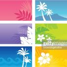 Tropical banners with an island theme. Professional clip art for your...