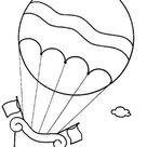 Balões, bexigas e avião de papel - com molde