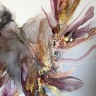 Abstract painting with alcohol ink. Tutorial by Aesthetic Alchemy Art.