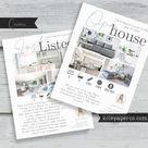 Bundle Flyer Pack   Open House / Just Listed Flyer Advertisement Postcard, Seller New Listing, Template, Real Estate Agent, Realtor