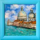 Available. Venice Grand Canal Italy  original oil painting in a blue   Etsy