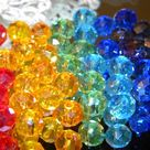 New 42/pc AB GLASS Faceted Crystal Rondelle 8x6mm Chakra Reiki meditation Yoga balance Spacer Beads
