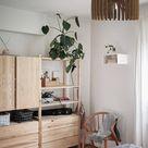 Modern Vintage Chandelier Brown, Lasercut DIY Handmade Wood Pendant Light, Ceiling Interior Lamp Art