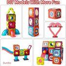 110 PCS Marble Run Magnetic Tiles  Blocks Toys