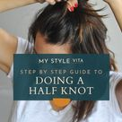 How To Do The Half Top Knot On Short Hair | an indigo day