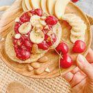 Zuckerfreie Chia Pancakes mit Kirsch-Bananen-Topping 😍🍒