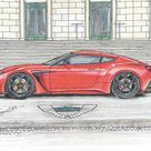 092 2011 Aston Martin V12 Vantage Zagato  Print  Limited   Etsy
