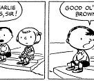 If you were born in 1950, that year Peanuts premiered on October 2, 1950, in nine newspapers across the US - here's that first strip - from L-R are Charlie Brown, Shermy and the original Patty.