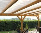Ombrage pour une terrasse sans couverture en verre ou en polycarbonate