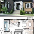 3-Bedroom Single-Story Scandinavian Style Home (Floor Plan)