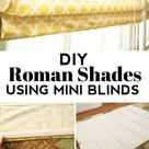 How To Make Roman Shades With Mini Blinds   Homemade Ginger