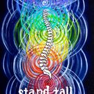 Stand Tall -- Chakra Anatomy original artwork - 8 x 10 inch Giclee Print (archival paper)
