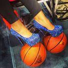 Blue Heel Shoes