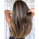 Moresoo Remy Hair Front Lace Wigs Straight Chocolate Brown 4 Highlight With Blonde 27ST P4/27