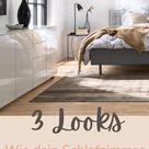 Hochglanz-Schlafzimmer in Weiß gemütlich einrichten & dekorieren