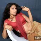 Indian Girl in Red Blouse Saree