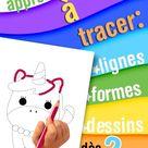 Apprendre à tracer : lignes, formes, dessins - dès 2 ans: Cahier d'exercices de traçage et de coloriage pour enfants débutant leur apprentissage de l'écriture et du dessin. Toute petite section.
