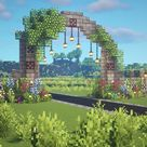 Fairy Arch Aesthetic Minecraft Tutorial 🍄🌿✨ Fairytail Cottagecore Fairycore 🌸 Kelpie The Fox