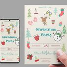 Christmas Party, Christmas Party Invitation,Christmas Invite, Colorful Invitation for kids and Adults, instant Download, Christmas Printable