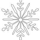 Kostenlose Malvorlage Schneeflocken und Sterne: Schneeflocke zum Ausmalen zum Ausmalen