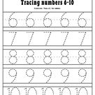 Number 1-20 Tracing Worksheets FREE Printable PDF