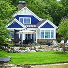 Tour this craftsman lake house in Michigan with a cozy cottage vibe