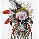 indian skull tattoos