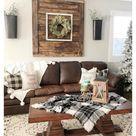 rustic farmhouse living room furniture leather