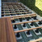 Bauanleitung für Holzterrasse Unterkonstruktion verlegen