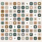 Boho IPhone iOS 14 App Icons Theme Pack Creme Beige | Etsy