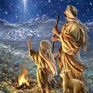 Shepherds Keeping Watch Canvas Wall Art - 10x14