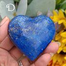 Deep Cobalt Blue Lapis Lazuli Hearts (Lot 1) - D (152g)
